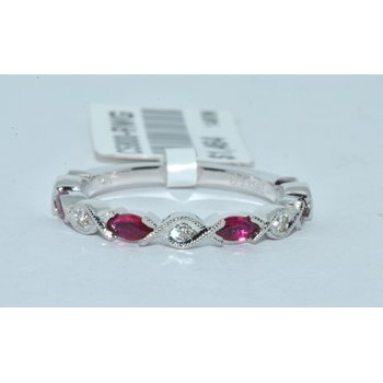 14K WG Ruby & Diamond WB