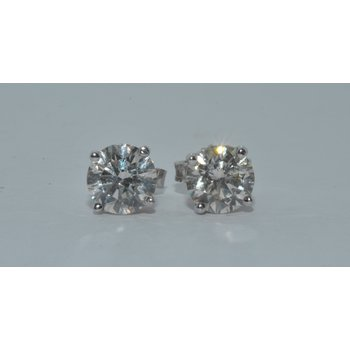 14K WG STUD H VS2 1.60ct