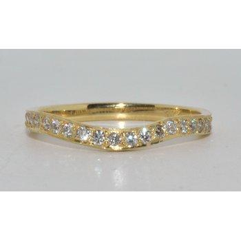 18K Yellow Gold Diamond Wedding Band