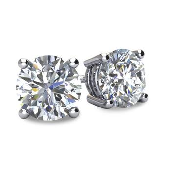 0.80 Ct Diamond Stud Earrings