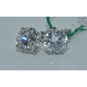14K WG Diamond Stud 4.15ct