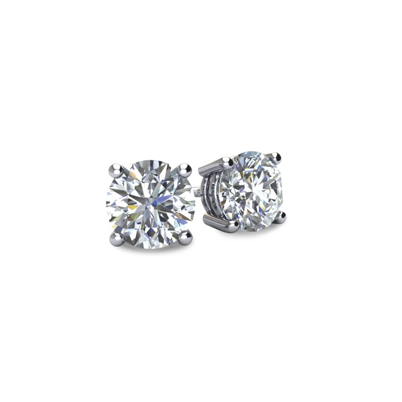 Windy City Signature 1.00 Ct Diamond Stud Earrings
