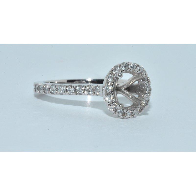 Windy City Signature 14k X-1 diamond eng ring