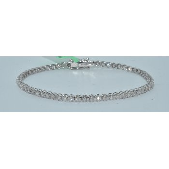 14K WG 1ct TW diamond tennis braclet