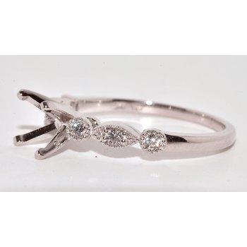 14 K White Gold Engagement Rings