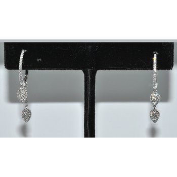 14K WG Diamond Earring