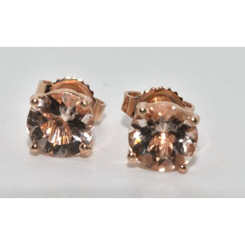 14K Rose Gold Morganite Earrings