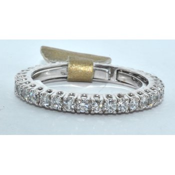 18K WG Diamond Wedding Band