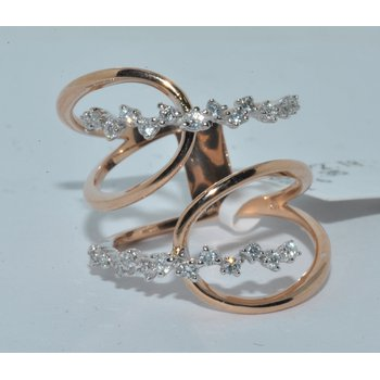 18K RG Diamond Ring