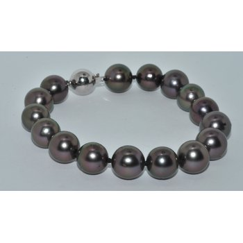 14KW 8  11-12mm Nat Blk South Sea Pearl