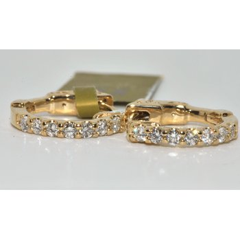 14K YG Diamond Earrings
