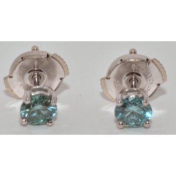 14K WG Blue Diamond Earring HPTP