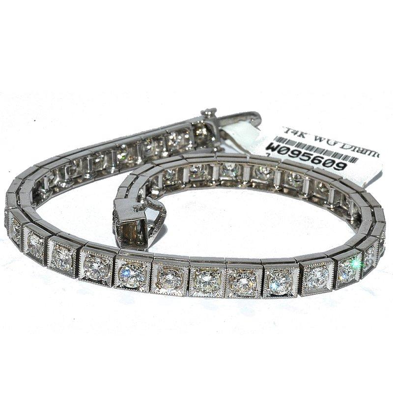 Windy City Signature Channel Set Diamond Tennis Bracelet