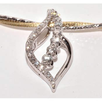 18K White Gold Diamond Pedants