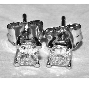 Elegant Princess Diamond Earrings