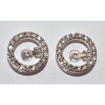 14K-X1 White Gold  Mechanical Earrings