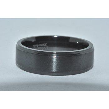 Gents Zirconium WB Flat Step cut 7mm Sat