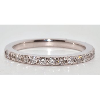 14K White Gold Halfway Diamonds Wedding