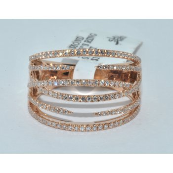 14K RG Diamond Ladys Ring