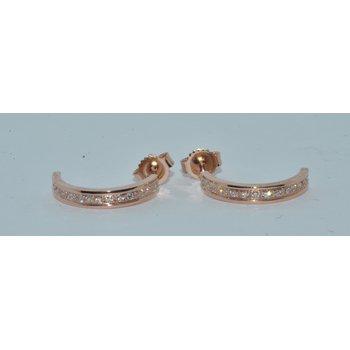 14k Rose gold J earrings