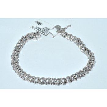 14K WG Diamond Pave Chain Brac