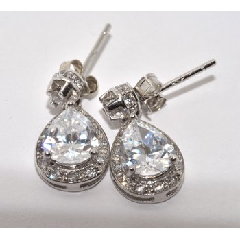 Silver/CZ Earrings