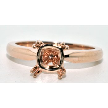 14K Rose Gold Solitaire Ring with Slip