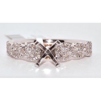 14K Two Tone Braided Diamond Engagement