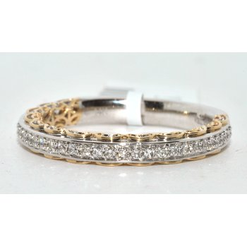 Two-Tone Womens Wedding Band