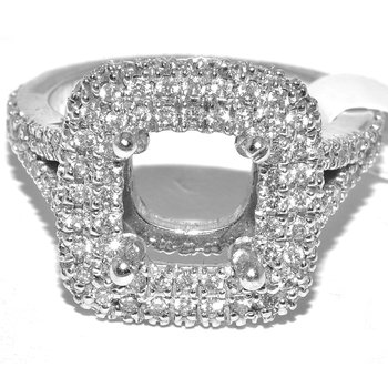 Beautiful and Classic Square Double Halo