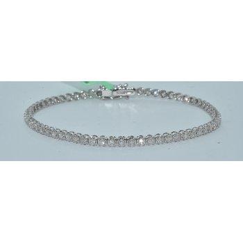 14K WG 2ct TW Tennis Bracelet