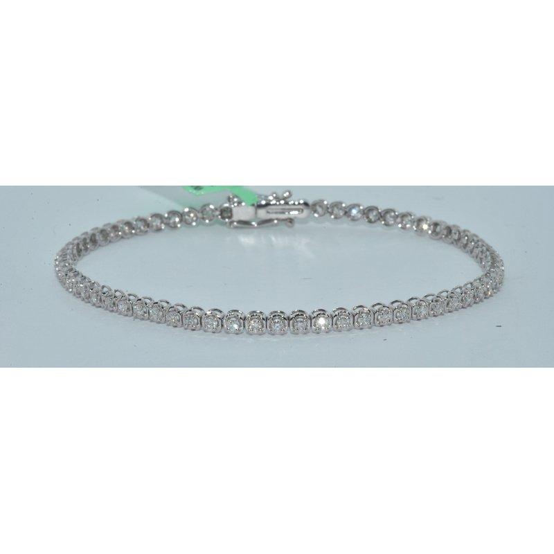 Windy City Signature 14K WG 2ct TW Tennis Bracelet