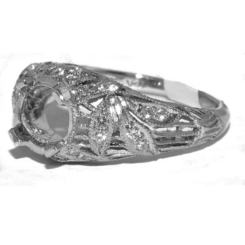 Hand Engraved Vintage Engagment