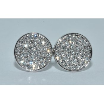 14K WG Diamond cluster Earrings