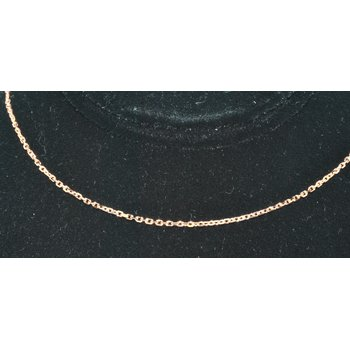 14K RG 18in 1.1mm Cable Chain