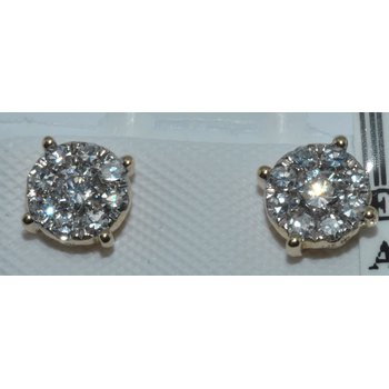 14k WG cluster diamond earrings