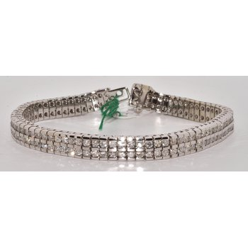 Double Row Channel Set Tennis Bracelet