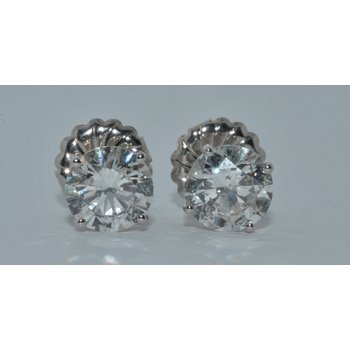 14K WG Diamond Stud Earring
