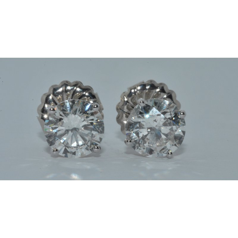 Windy City Signature 14K WG Diamond Stud Earring