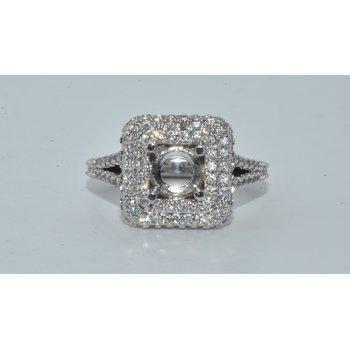 14k WG Diamond Halo Eng ring