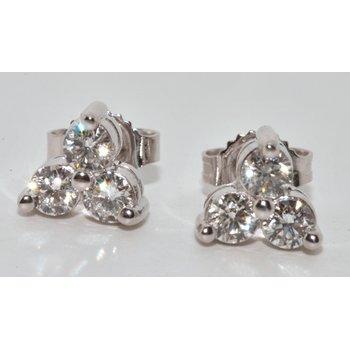 Three Leaf Clover Diamonds Studs