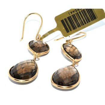 14K Smokey Topaz Earrings