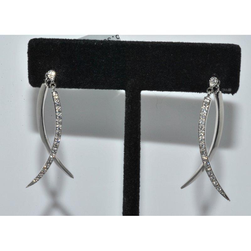 Windy City Signature 14K WG Diamond Dangle Earring