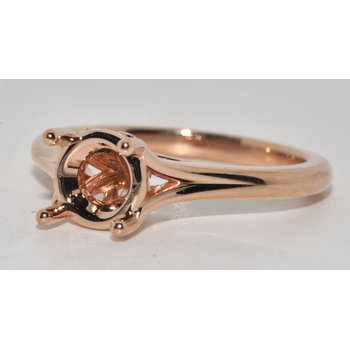 14-K Rose Gold Semi-Mount Diamond