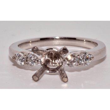 14K WG Tulip Top Engagement Ring