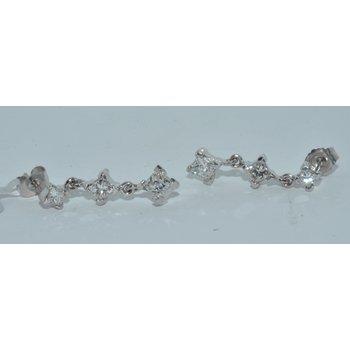 14K WG Diamond PR Earring
