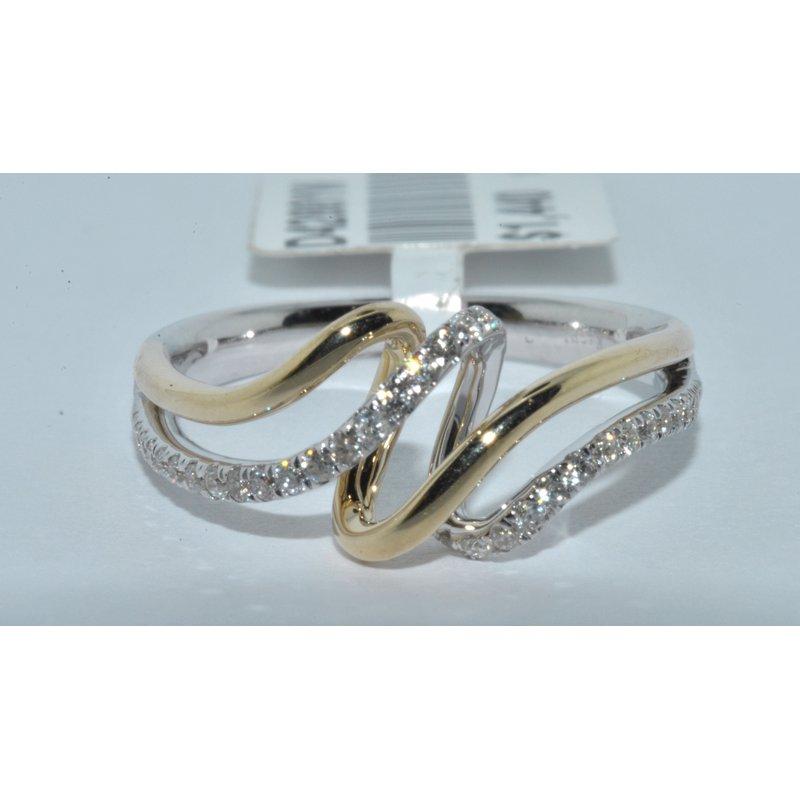 Windy City Signature 14K TT diamond ring