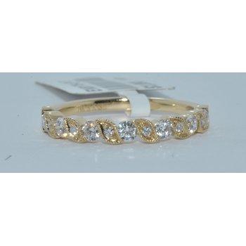 14K WG Diamond Wedding Band