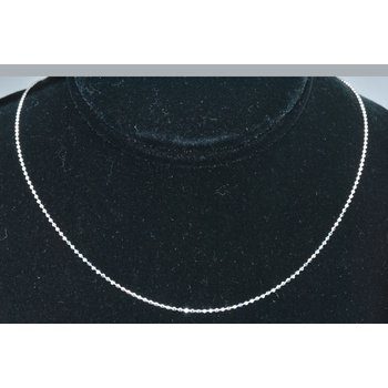 "Chain 18"" Bead 1mm 14k WG"