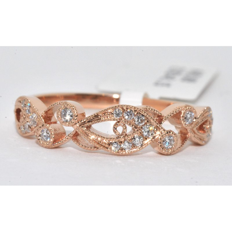 Windy City Signature Diamond Filigree Wedding Band Ring